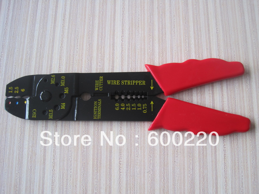LS-313C multi-function crimper,use for crimping 0.5-6mm2 terminals,wire stripper cutter portable multi tool