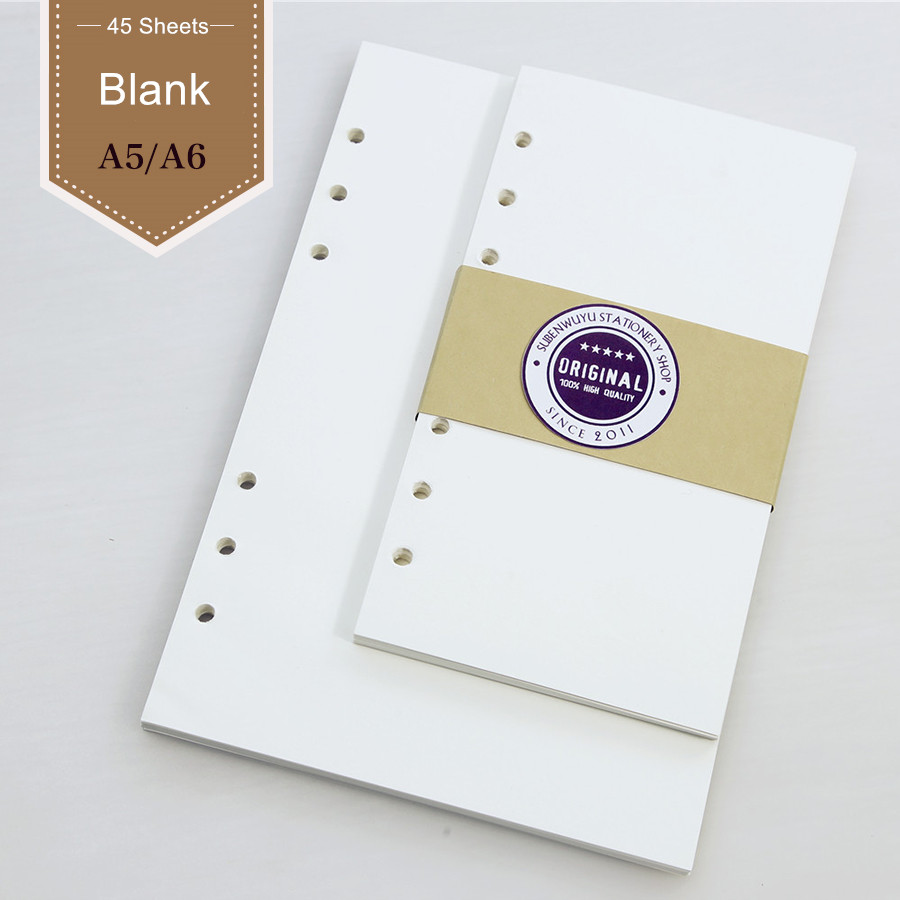 Loose Leaf Notebook With A5 A6 A7 Loose The Inner Core Scheme Inner Core Blank Filler Papers For Planner Filofax