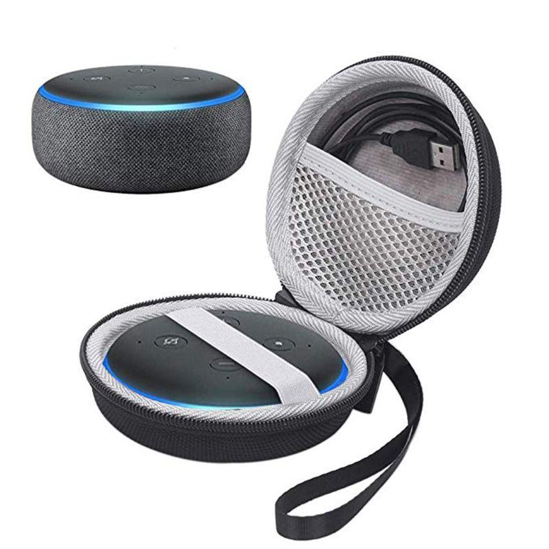 Сумка для хранения, футляр для переноски, органайзер, чехол, Жесткий Чехол, ударопрочный, для путешествий, для Amazon Echo Dot 3 Smart Speaker