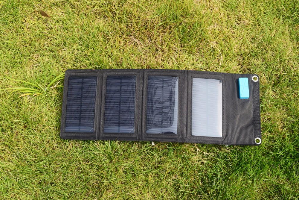 Solarparts 1PCS 18V/7W Portable Solar Charger System foldable solar panel charger power bank for outdoor charging mobile phone