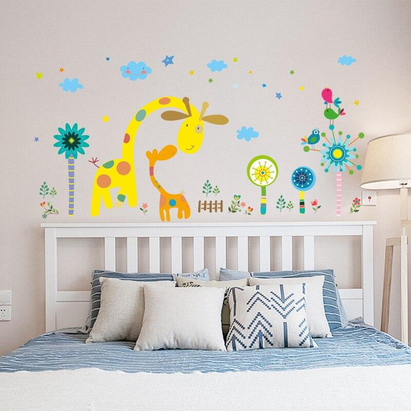 Cartoon Colorful Room: Animal Wall Decal Cartoon Wall Art Bedroom Home Decoration