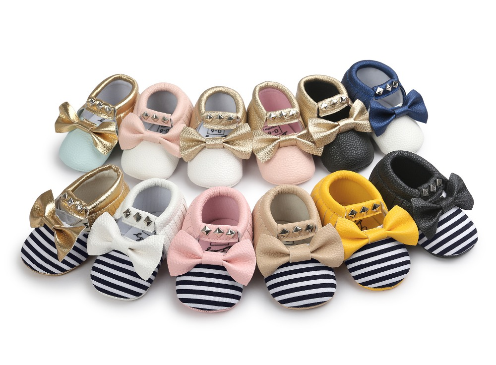 New-pu-Leather-Baby-Moccasins-Rivet-striped-Mary-janes-Baby-girls-princess-dress-Shoes-Newborn-first-walker-Infant-baby-Shoes-1