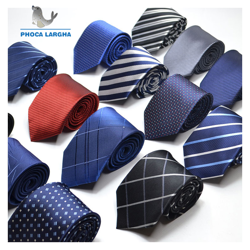 Men Ties Necktie Men's Vestidos Business Wedding Tie Male Dress Legame Gift Gravata England Stripes JACQUARD WOVEN 8cm