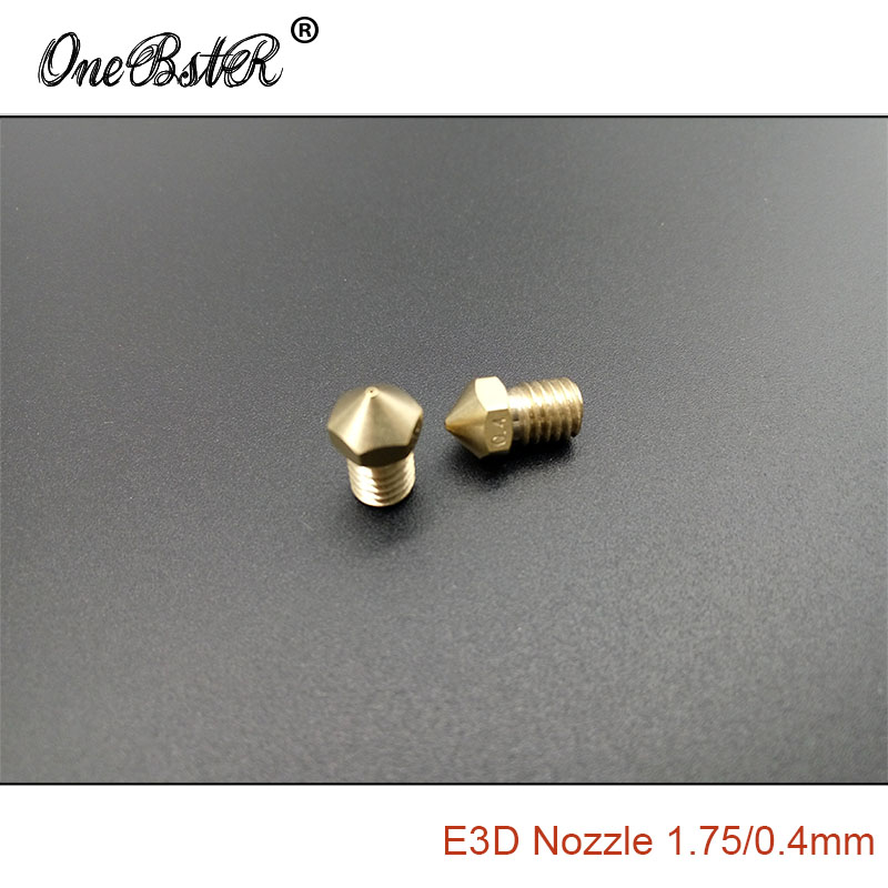 2Pcs/Lot 3D Printer Accessories Ultimaker 2 Split Nozzle 1.75/0.4mm Combination Nozzle Brass Head Extruder Tip Nozzle M6 thread 2017 assembled jennyprinter3 z360ts dual extruder nozzle extended for ultimaker 2 um2 high precision auto leveling 3d printer