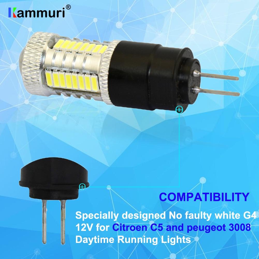 High power No error white 6000K led drl light hp24w G4 32smd 4014 ...