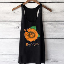 Blume Drucken Tank Top Sommer Weste Beiläufige Lose Top Sleeveless Tank Sport Pullover Tunika Tops Camiseta Tirantes Mujer(China)