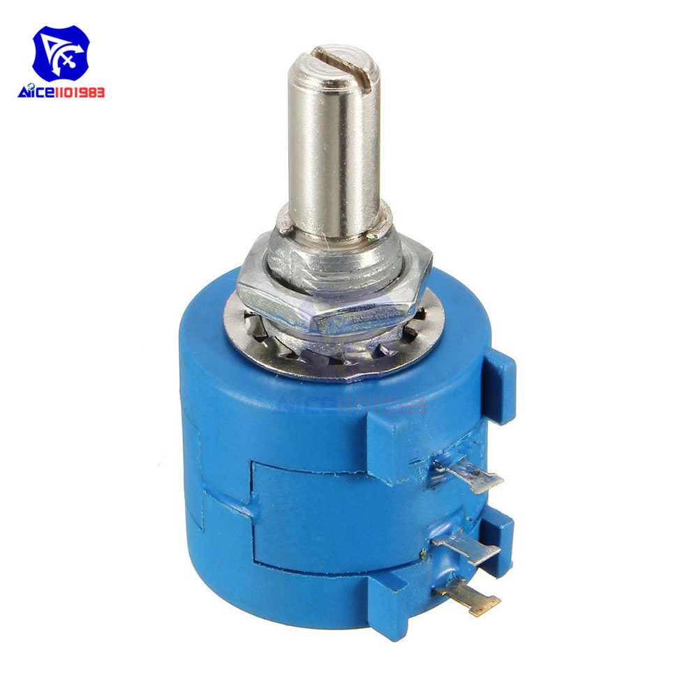 <font><b>3590S</b></font>-<font><b>2</b></font>-<font><b>103L</b></font> 10K Ohm Precision Multiturn Wirewound Potentiometer 10 Turns Adjustable Resistor image