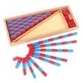 Детские игрушки маленькие Счетные палочки Монтессори математика 1-25 см красные и синие стержни математическая игрушка обучение и образован...