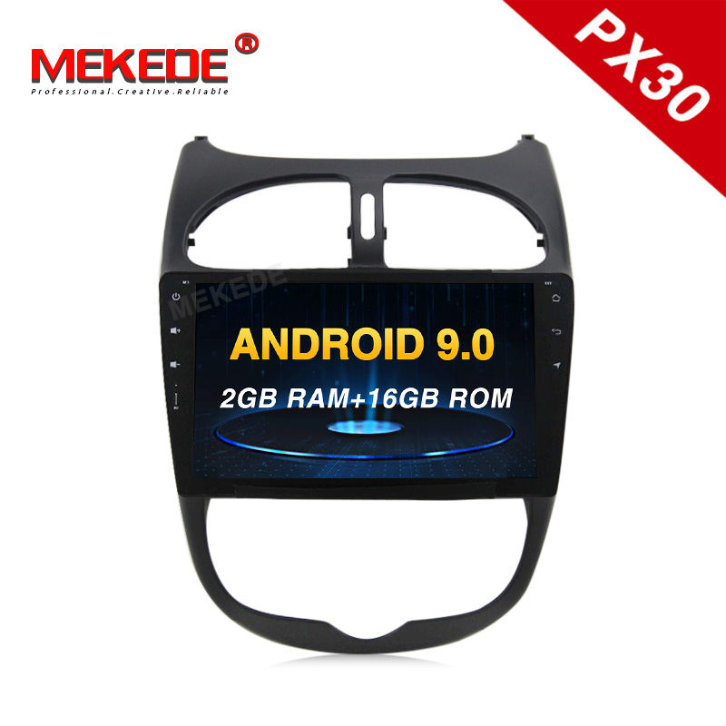 <font><b>Android</b></font> 9.0 car headrest dvd Car Multimedia player Autoradio for <font><b>Peugeot</b></font> <font><b>206</b></font> 2000-2016 with DSP IPS wifi bluetooth carplay navi image