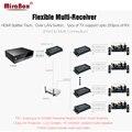HSV891-IR (1 отправитель и 2 приемника) 1080P HDMI удлинитель IR по Rj45 Cat5/Cat5e/Cat6 120 м с аудио экстрактором HDMI по IP