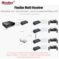 HSV891 IR (1 передатчик и приемник 2 шт.) 1080 P HDMI расширитель ИК более Rj45 Cat5/Cat5e/Cat6 120 м с аудио экстрактор HDMI, Овер IP