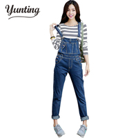 New Lady Denim Women's Jeans Bib Pants Overalls Loose Jumpsuit Female Casual Suspenders Cargo Trousers