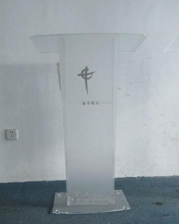 Logo Customize Hot Sale Acrylic Frustrated Factory Modern Acrylic Pulpit Podium