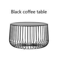 Scandinavian Coffee Table Metal Small Apartment Living Room Pumpkin Coffee Table Modern Minimalist Side Table