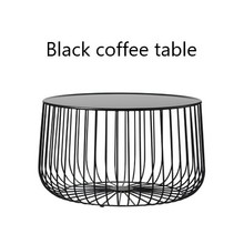 Scandinavian coffee table metal small apartment living room pumpkin coffee table modern minimalist side table square glass coffee table stylish minimalist modern paint coffee table tv cabinet ensemble creative