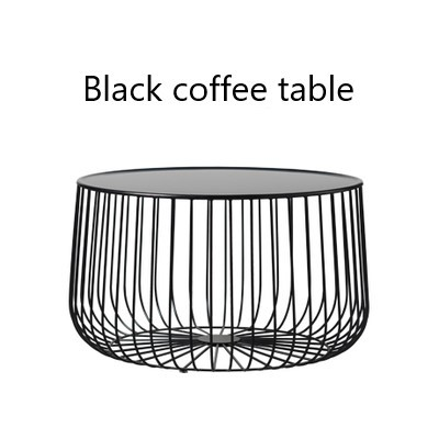Scandinavian Coffee Table Metal Small Apartment Living Room Pumpkin Coffee  Table Modern Minimalist Side Table