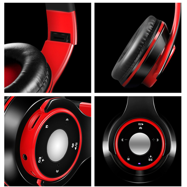 Wireless Headphones Bluetooth Headphone Colorful Stereo Audio Headset For PC mobile phone Support SD Card With Mic play 7 hours