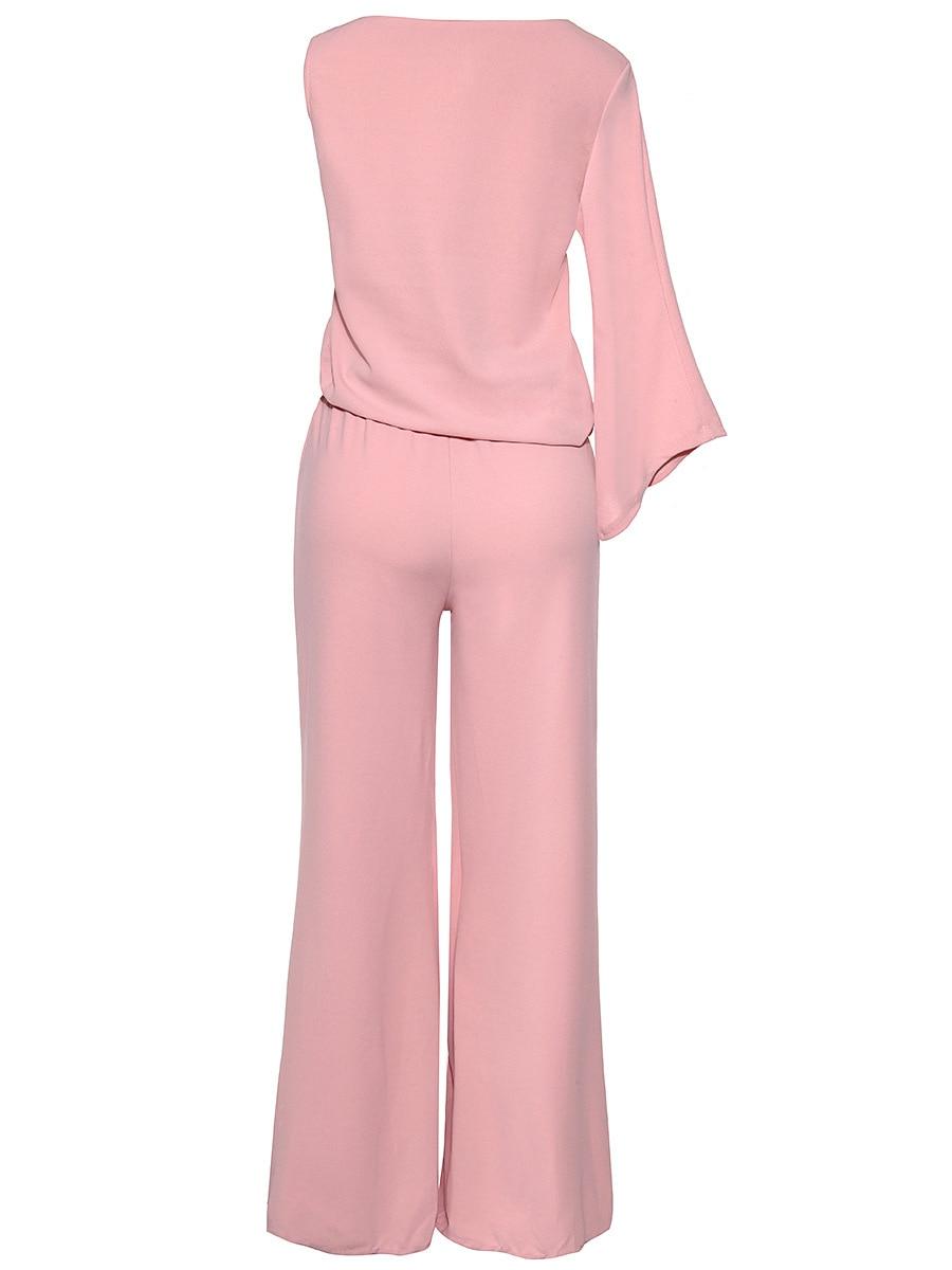 2e707ade9 € 25.92  Bodycon jumpsuit sólido y Mamelucos para las mujeres tiempo  limitado poliéster enteritos mujer 2017 modelos de explosión sexy jumpsuit  ...