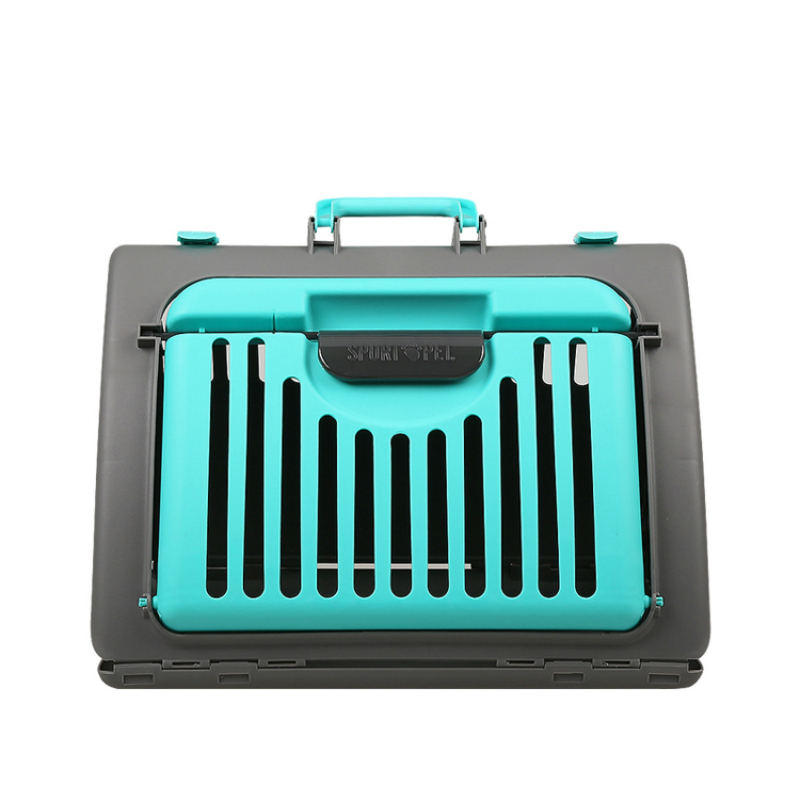 2018 Vente Chaude Portable En Plastique Pet Carrier Caisses 11.34 kg Chargement Pliable Respirant Chiot Chien Chat En Plein Air Voyage Chenil