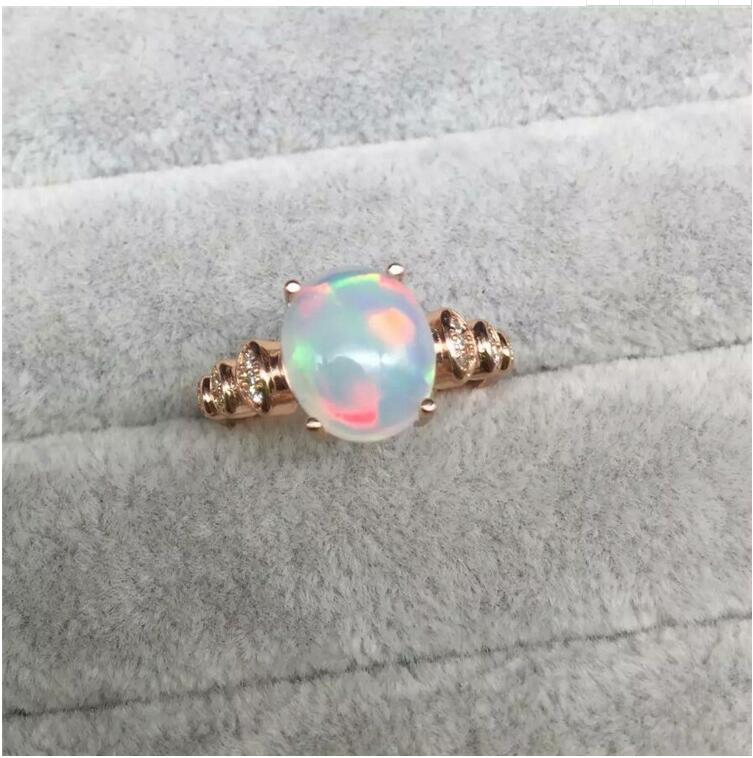 Бесплатная доставка Настоящее S925 Серебро инкрустированные натуральный опал кольцо 9*11 мм Высокое качество чистого Gem хорошую прозрачность