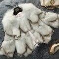 2016 New Winter Luxury Nautral Fox Fur Coat Genuine Fox Fur Outwear Lady Winter Charm Wear Real Fur Jackets