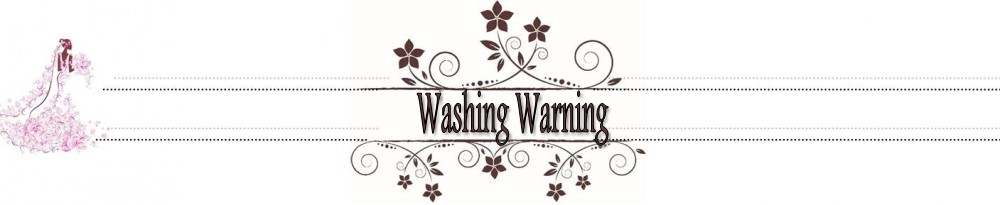 Washing Warning