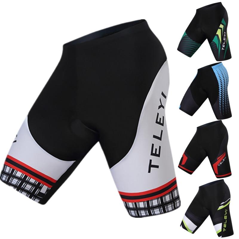 Teleyi Coolmax 3D Gel Padded Cycling Shorts Men Women 2019 Pro Team Downhill Bicycle Shorts Racing Sport MTB Road Bike Shorts