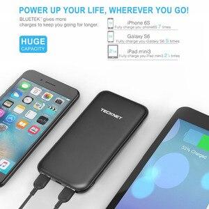 Image 2 - TeckNet 10000 mah Power Bank TYPE C Tragbare Externe Batterie Pack mi cro USB Lithium Polymer Ladegerät für iPhone Xiao mi mi