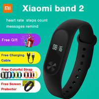 Xiaomi band 2 Mi Band 2 Smart Watch Bracelet Heart Rate Monitor Wristband Fitness Tracker Bracelet Smartband IOS Step Count