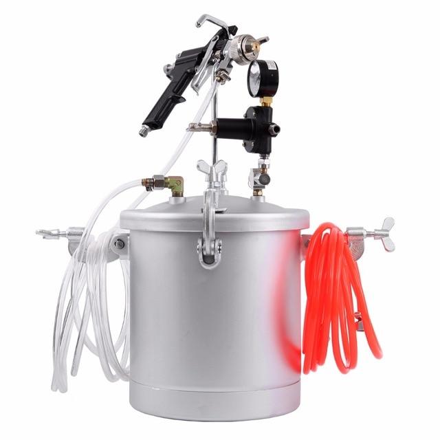 (Ship from USA) 2 1/4 Gallon Pressure Pot Tank Air Paint Spray Gun Painting Painter Industrial