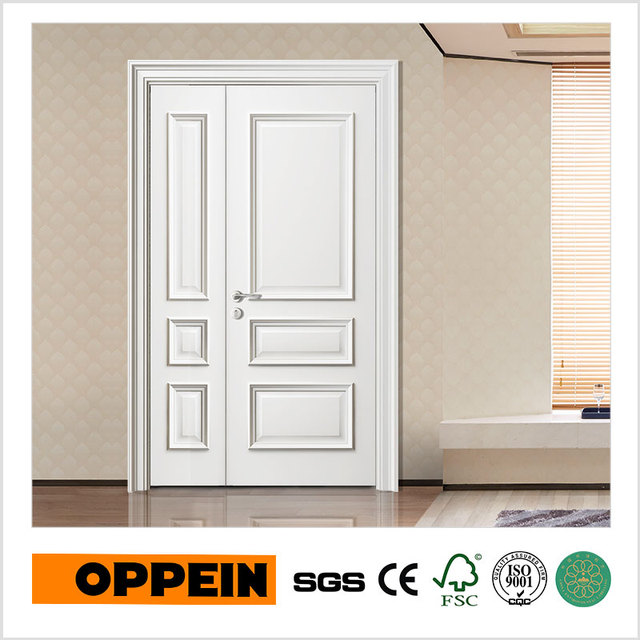 OPPEIN White Modern Design Wooden Flat Door with Door Frame (YDE009Z ...