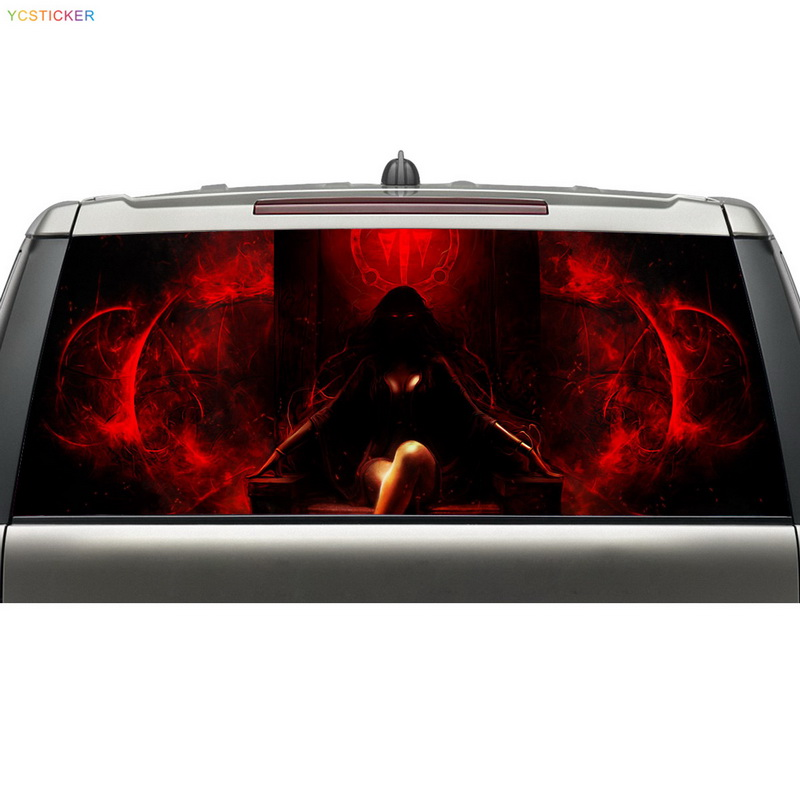 2016 aliexpress new products family car decals personalised design car rear windshield vinyl graphic decal stickers hot sale custom decals for cars uv protection 3m car vinyl wrap rear windshield high beam ghost decal sticker with suction cup
