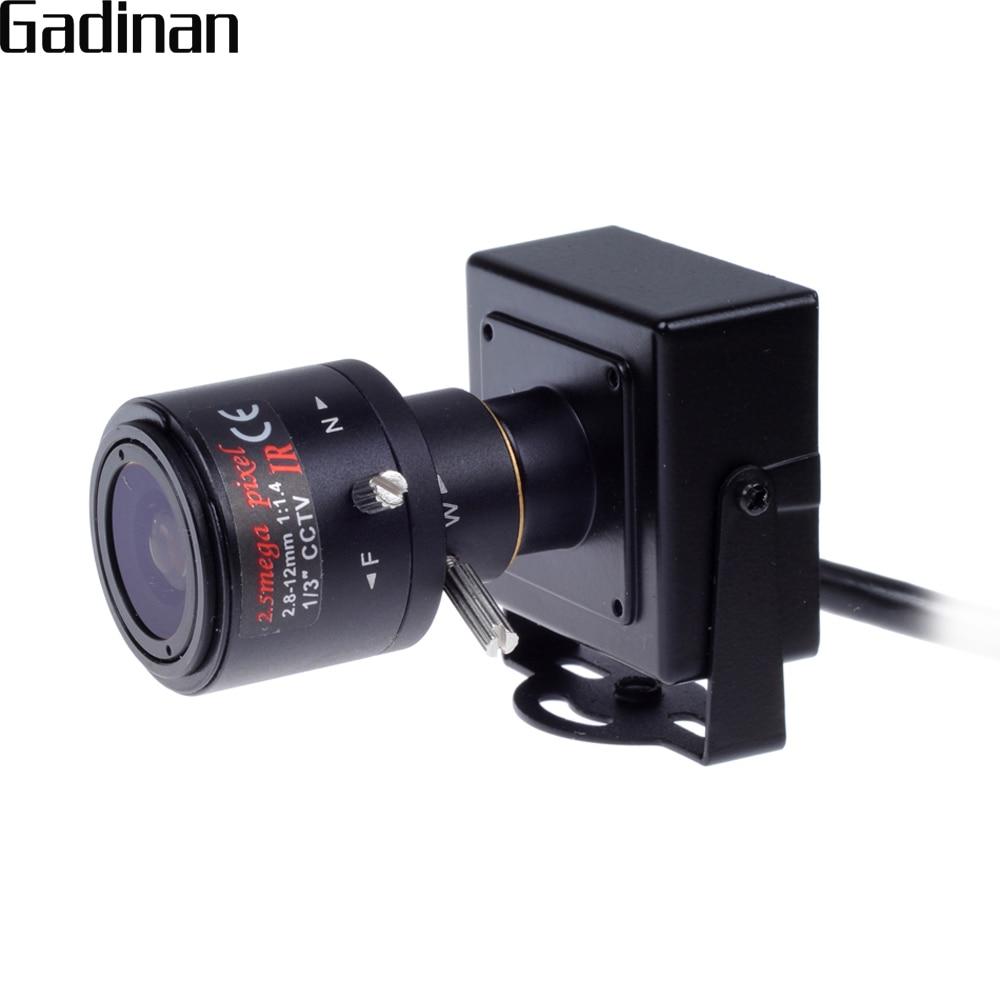 GADINAN H.264 720 P 1.0MP/H.265 1080 P 2.0MP Mini IP Caméra ONVIF 2.8-12mm À Focale Variable Manuel 4X zoom P2P XMeye Avec Support