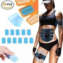 20 Pcs Hydrogel Sticker Stimulator Training Replacement Gel Sheet Pads AbS EMS A