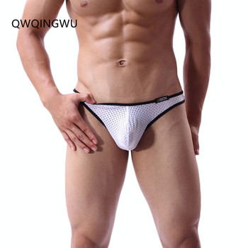 Men Underwears Gay Men Briefs Thongs Sexy Mini Briefs Low Rise Breathable Underpants Hole Nylon Male Underwear Briefs Thong male panties sexy modal underwear men s briefs men low rise u convex pouch brief underwear men stretch breathable briefs