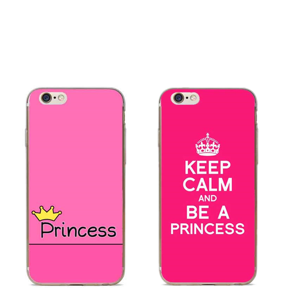Keep Calm and be a Princess Hard plastic Cover Case For iphone 4 4S SE 5C 5 5S 6 6S 6Plus prince queen pink phone cover