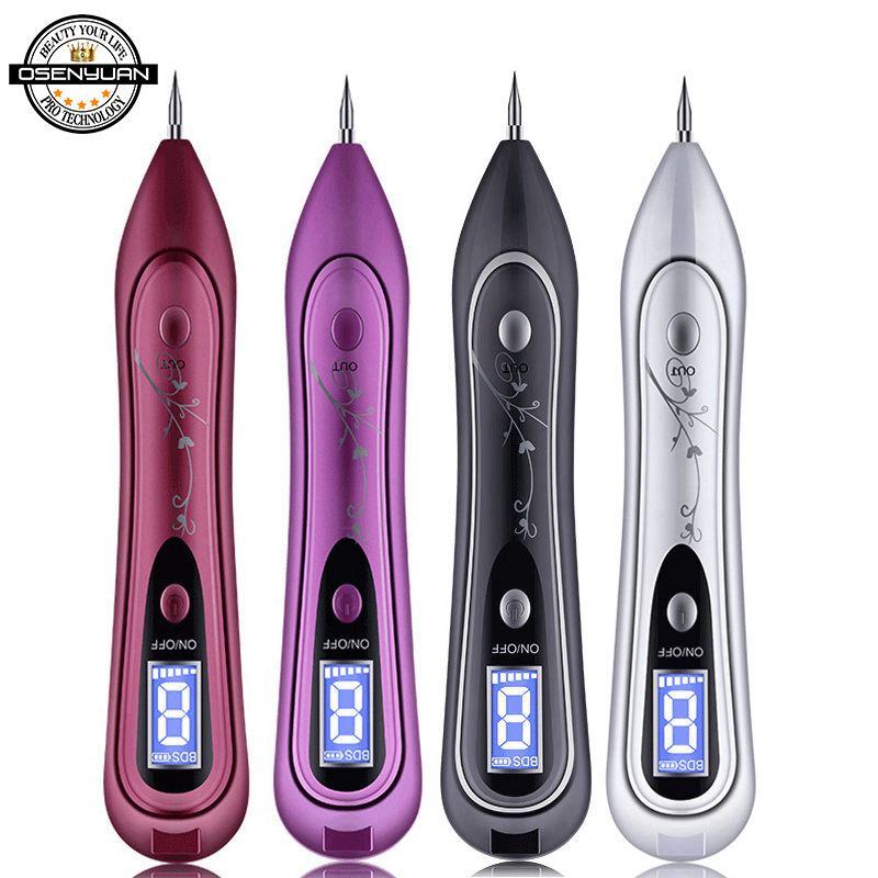 Skin Care Laser Mole Tattoo Freckle Removal Pen LCD Sweep Spot Mole Removing Wart Corns Dark Spot Remover Salon Beauty Machine in Powered Facial Cleansing Devices from Home Appliances