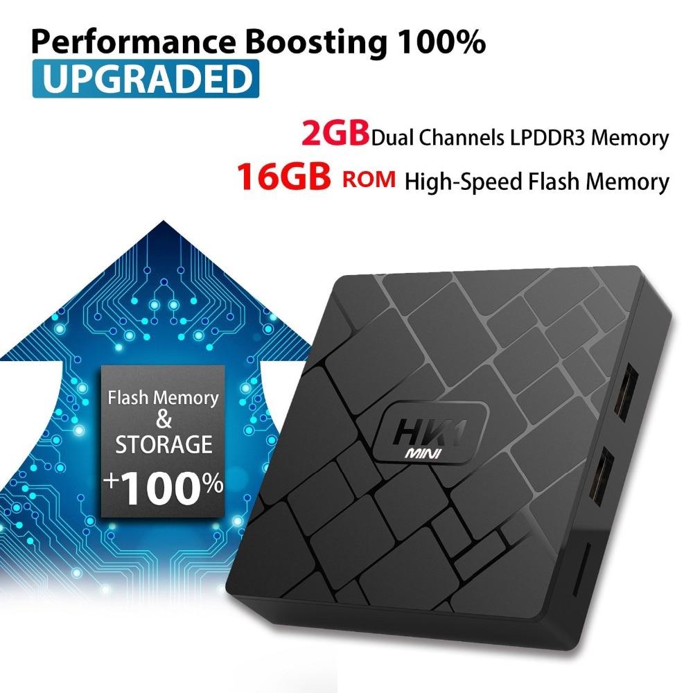 Image 3 - Android 9.0 TV BOX RK3229 Quad Core HK1 mini vs x96 mini 2GB 16GB air mouse is optional 4K H.265 Wifi IPTV media player HK1mini-in Set-top Boxes from Consumer Electronics
