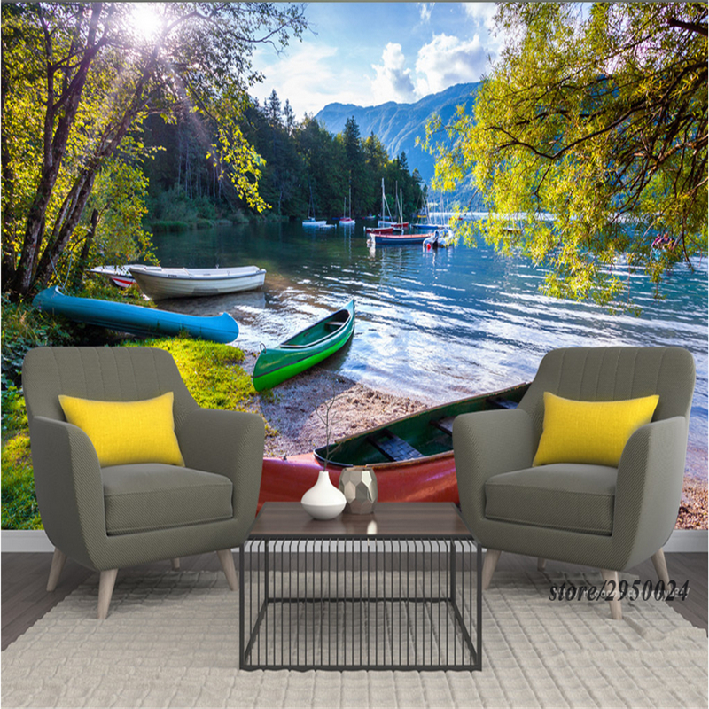 Customize Photo Wallpaper Murals Slovenia Lake 3d Embossed Wallpaper Environment Friendly TV Background Wall Paper for Kids Room shinehome classical rose music embossed photo wall paper room wallpaper 3d for livingroom 3 d wall roll background murals rolls