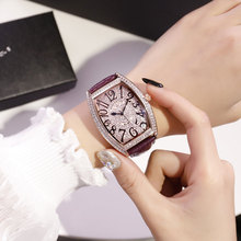2019 Big Size New Fashion Tonneau Watch Men Designer Brand Luxury Fully Diamond