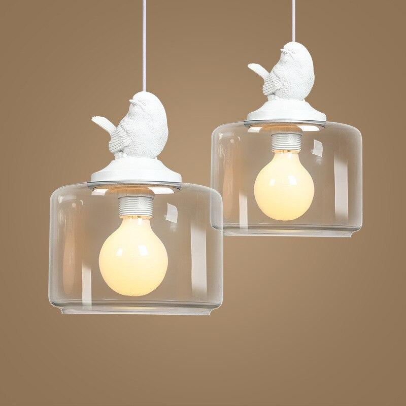 1/3/5 heads lamps bird hanging glass Restaurant Bar pendant light bedroom dinner American Rural lamps pendant light ZH FG851