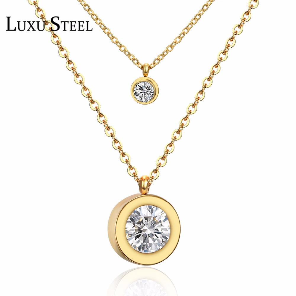 Stainless Steel Gold Plated Women Fashios
