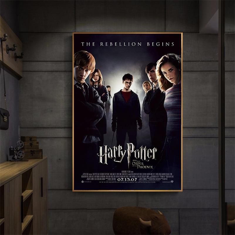 Movie Poster Retro Poster Wall Decoracion Home Decor Wall Art Canvas Harry Potter Magic World Kids Room Decor