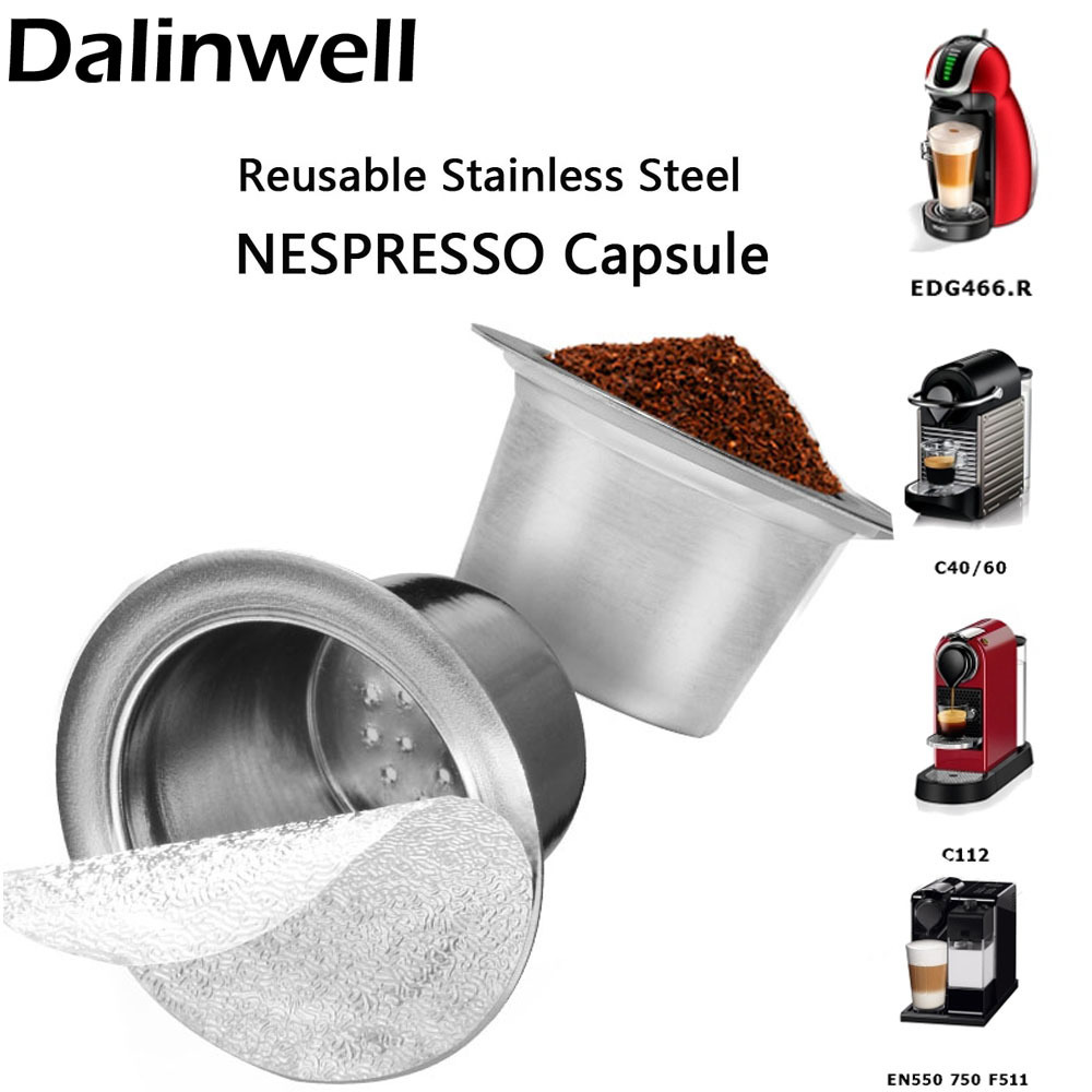 Factory-Sale Refill Nespresso Coffee Capsulas Stainless Steel Refillable Nespress Coffee Capsule Reusable Italian Coffee Filter ...