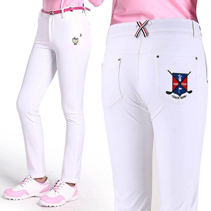 Ultra-thin High Quality Soft Slim Trousers XS-L Sportswear Women Summer Golf/Tennis Pant Lady Elastic Trouser Breathable Brand
