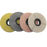 4 10 Inch Diamond Resin Round BUFF Polishing Disc Pads 100 250 MM Grinding Granite Marble Concrete Surface Abrasive Stone Tools