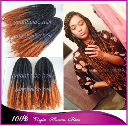 Price 20inch Two Tone Marley Braid 100 Kanekalon Synthetic Hair Ombre Twist