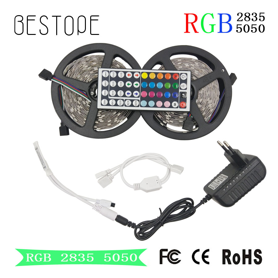 RGB LED Strip SMD 2835 LED Light DC 12V 5050 Strip 5M 10M Waterproof Flexible Ribbon