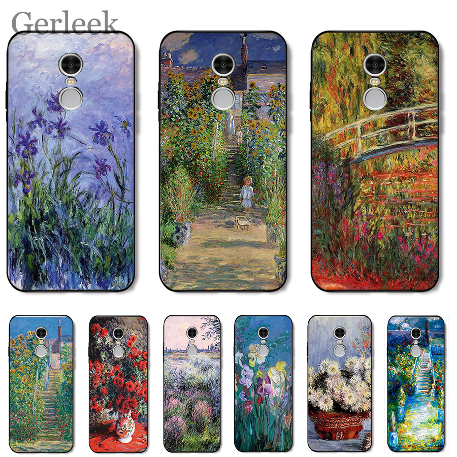 Mobile-Phone-Case Impressionism-Painter Monet Xiaomi Redmi Note-4 Plus Prime-Cover 6A