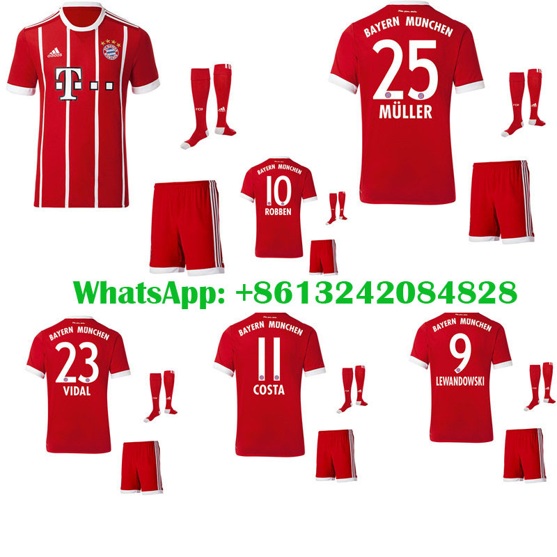 goalkeeper soccer club jersey 2017 2018 bayerning muniching men short sleeve soccer jersey 2016 17 b